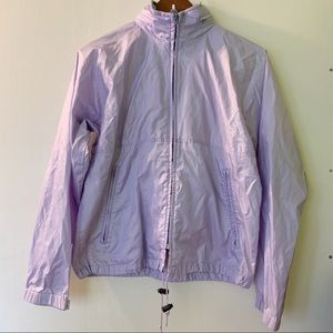 LL Bean // Light Purple Zip Front Rain Jacket M